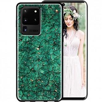 """Žalias dėklas """"Marble"""" Samsung Galaxy G988 S20 Ultra telefonui"""