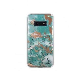 """Žalias silikoninis dėklas Samsung Galaxy S10 Lite telefonui """"Marmur"""""""