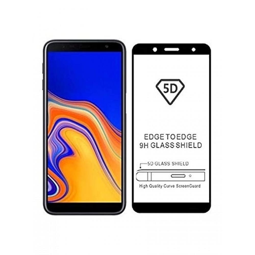 """5D Juodas apsauginis grūdintas stiklas Samsung J4 2018  telefonui """"Full Glue"""""""