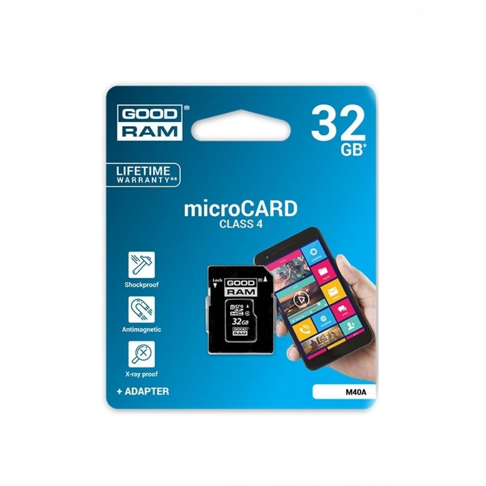Atminties korta GOODRAM MicroSD 32Gb + SD adapter