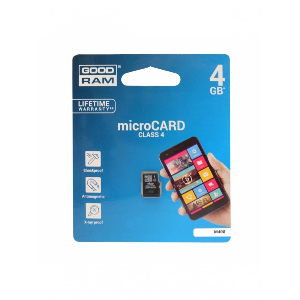 Atminties korta GOODRAM MicroSD 4Gb be adapterio
