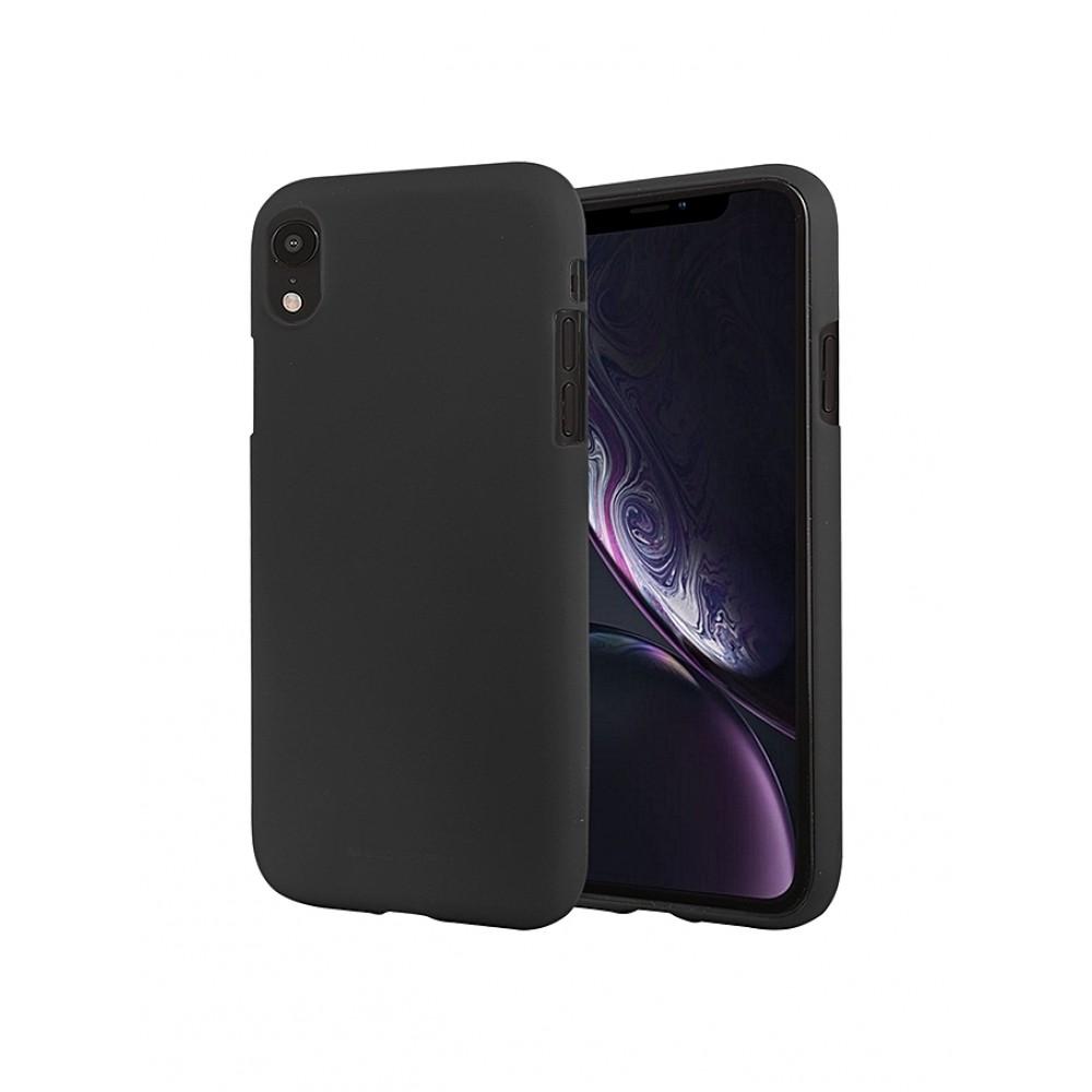 """Juodas silikoninis dėklas Apple iPhone XR  telefonui """"Mercury Soft Feeling"""""""