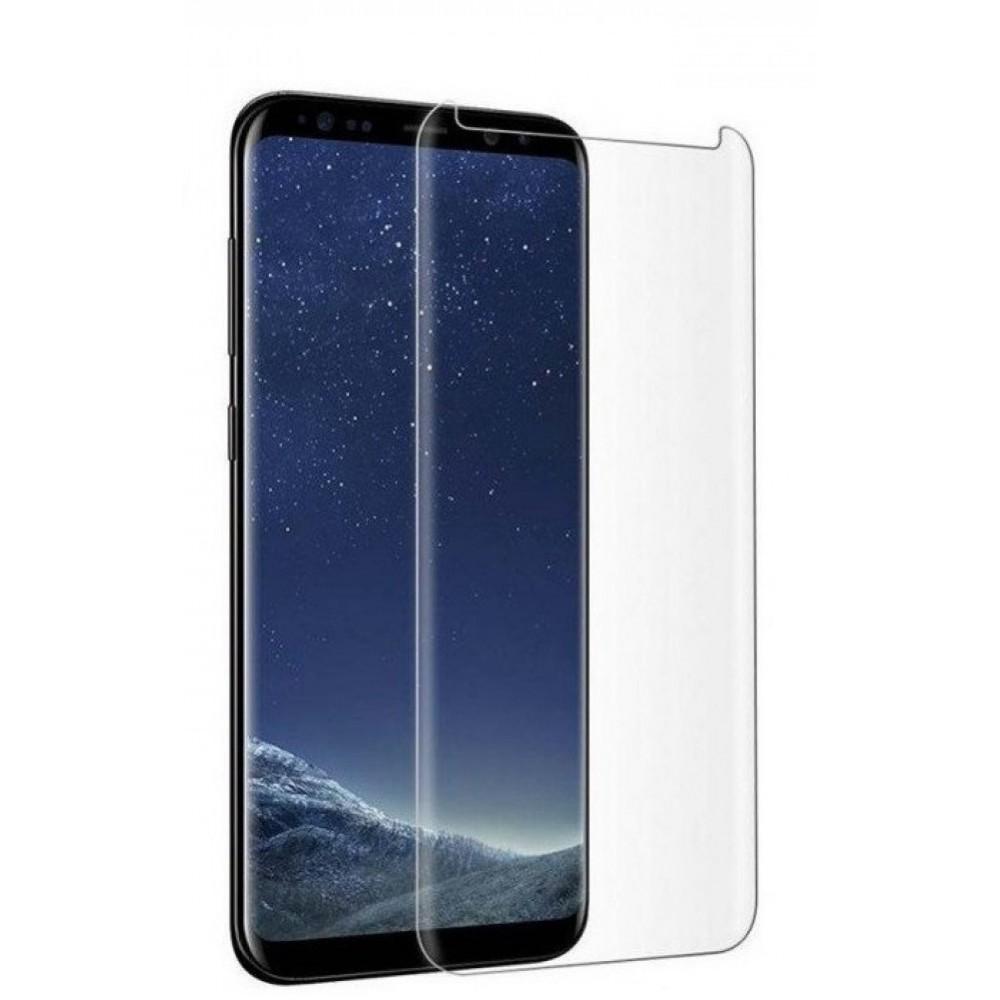 """Lenktas skaidrus apsauginis grūdintas stiklas Samsung Galaxy G965 S9 Plus telefonui """"M1 5D UV Glue"""""""