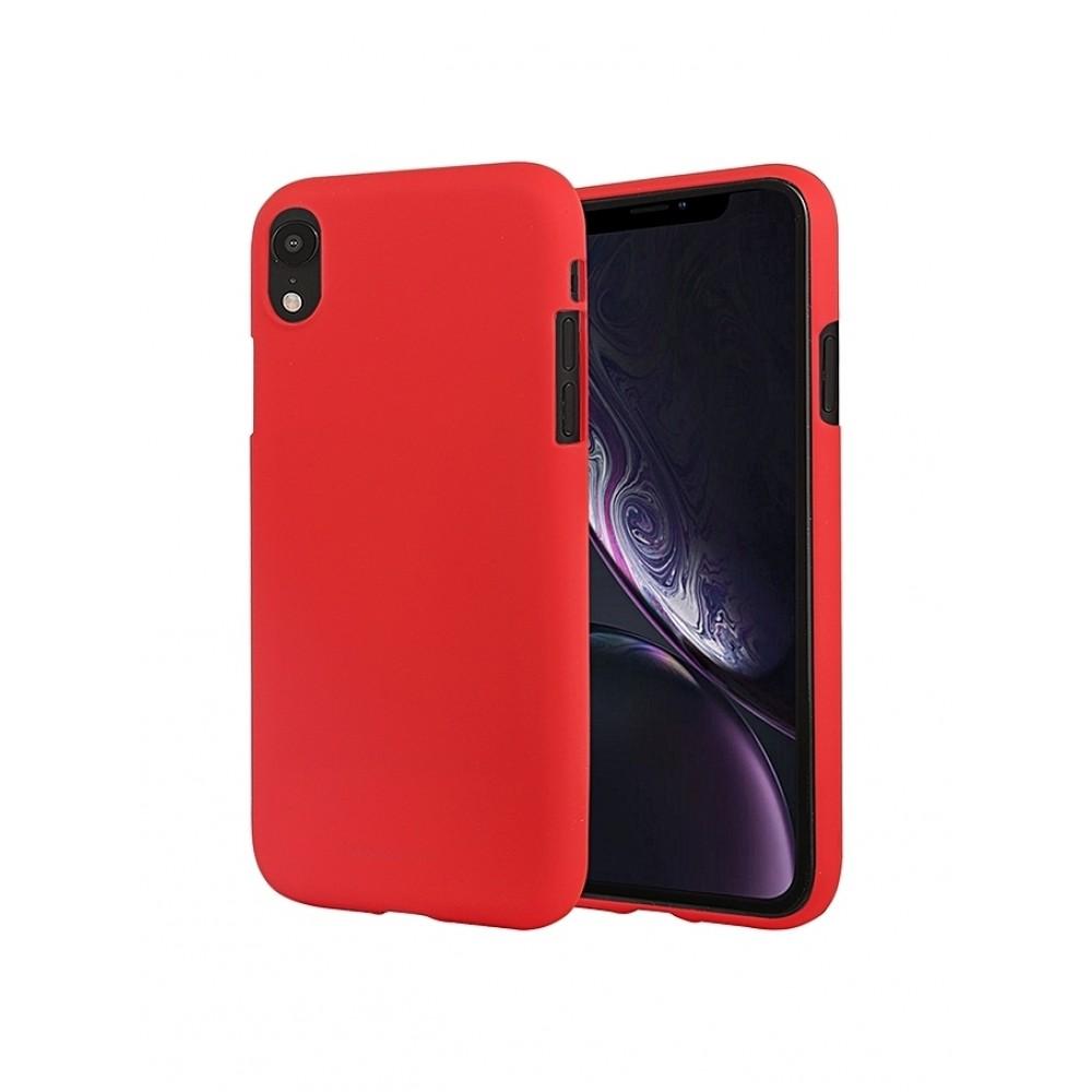 """Raudonas silikoninis dėklas Apple iPhone XR telefonui """"Mercury Soft Feeling"""""""