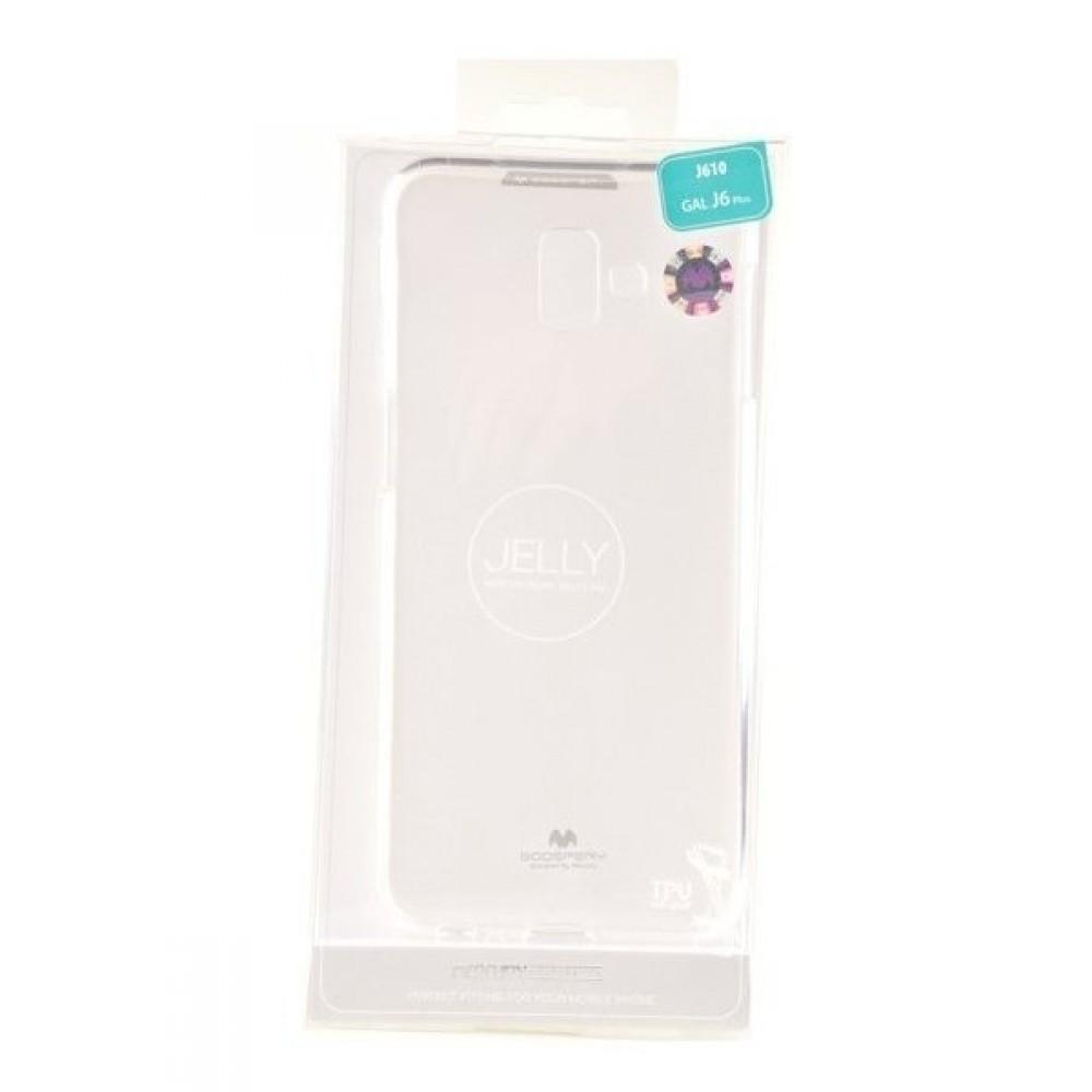 """Skaidrus dėklas Mercury Goospery """"Jelly Clear"""" Samsung Galaxy J610 J6 Plus 2018 telefonui"""