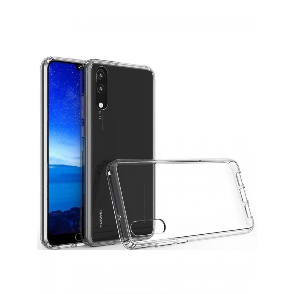 """Skaidrus silikoninis dėklas Huawei P20 telefonui """"Clear"""" (1,0mm)"""
