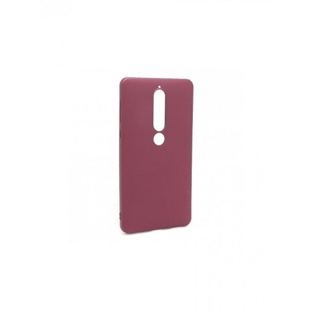 Vyno raudonos spalvos dėklas X-Level Guardian Nokia 6.1 / 6 2018 telefonui