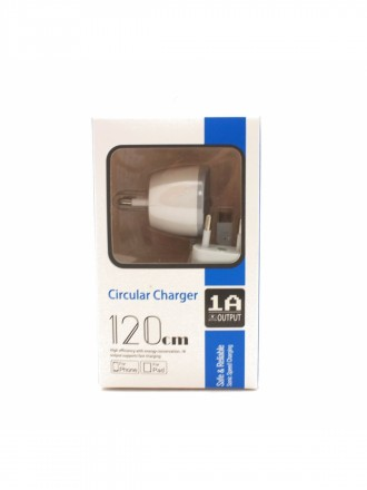 "Įkroviklis buitinis ""Circular charger"" ""microUSB"" (1A)"