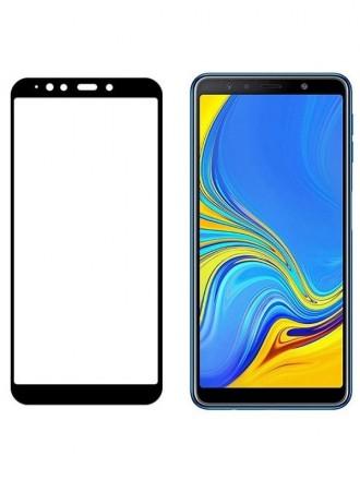 Juodas 3D apsauginis grūdintas stiklas Samsung Galaxy A920 A9 2018 telefonui