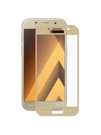 "LCD apsauginis stikliukas ""5D Full Glue"" Samsung A520 A5 2017 lenktas auksinis"