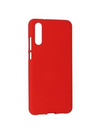 """Raudonas silikoninis dėklas Huawei P20 telefonui """"Mercury Soft Feeling"""""""