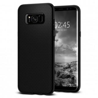 """Juodas dėklas Samsung Galaxy S8 telefonui """"Spigen Liquid Air"""""""