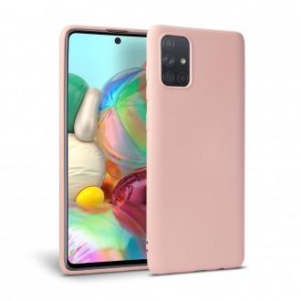 """Rožinis silikoninis dėklas Samsung Galaxy A51 telefonui """"Tech-protect Icon"""""""
