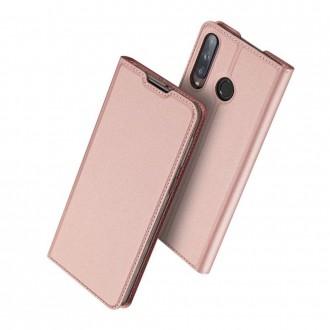"""Rausvai auksinės spalvos atverčiamas dėklas Huawei P40 Lite E telefonui """"Dux Ducis Skin Pro"""""""