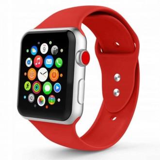 """Raudona apyrankė laikrodžiui """"Apple Watch 1/2/3/4/5 (42-44MM) """"Tech-Protect Smoothband"""""""