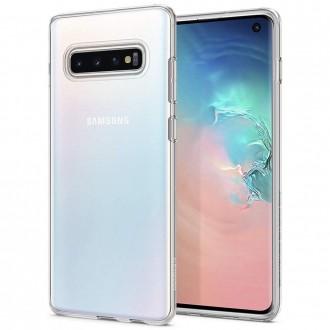 "Skaidrus dėklas Samsung Galaxy S10 telefonui ""Spigen Liquid Crystal"""