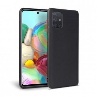 """Juodas silikoninis dėklas Samsung Galaxy A51 telefonui """"Tech-protect Icon"""""""