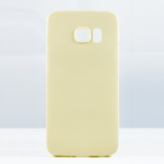 """Dėklas Tellos """"Leather case"""" Samsung G920 S6 kreminis"""