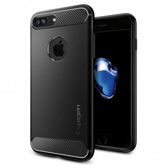 "Juodas dėklas Apple iPhone 7 Plus / 8 Plus telefonui ""Spigen Rugged Armor"""