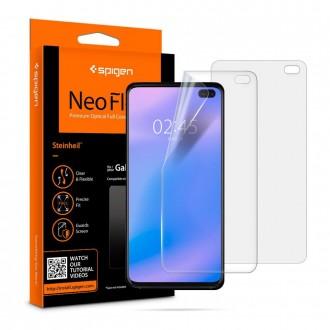 """Apsauginė ekrano plėvelė """"Spigen neo flex 2vnt"""" Samsung Galaxy S10 Plus telefonui"""