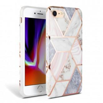 """Rožinis dėklas """"Tech-Protect Marble"""" Apple Iphone 7 / 8 / SE2 telefonui"""
