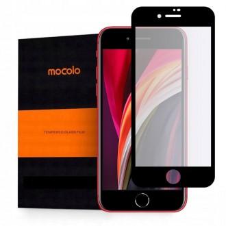 """Juodas apsauginis grūdintas """"Mocolo"""" stiklas Apple Iphone 7 / 8 / SE 2020 telefonui"""