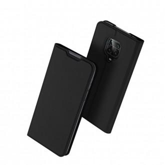 """Juodas atverčiamas dėklas Xiaomi Redmi Note 9s / 9 Pro / 9 Pro Max telefonui """"Dux Ducis Skin"""""""