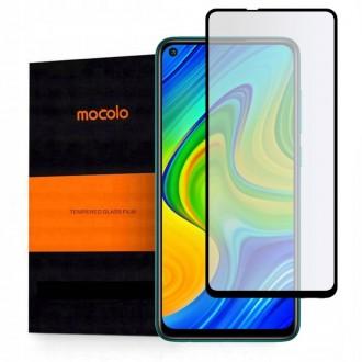 """Juodas apsauginis grūdintas """"Mocolo"""" stiklas Xiaomi Redmi NOTE 9 telefonui"""