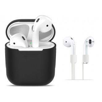 "Juodas dėklas APPLE AIRPODS ""TECH-PROTECT''"