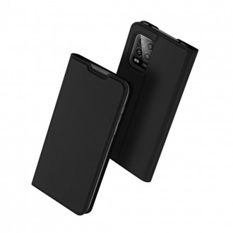"""Juodas atverčiamas dėklas Mi 10 Lite / Mi 10 Lite Zoom telefonui """"Dux Ducis Skin"""""""