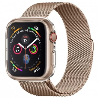 """Skaidrus dėklas laikrodžiui Apple Watch 4/5 (44MM) """"Spigen Liquid Crystal"""""""
