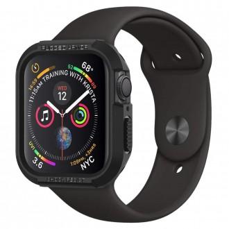 """Juodas dėklas laikrodžiui Apple Watch 4/5 (40MM) """"Spigen Rugged Armor"""""""