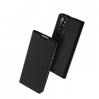 """Juodas atverčiamas dėklas Xiaomi Mi Note 10 Lite telefonui """"Dux Ducis Skin"""""""