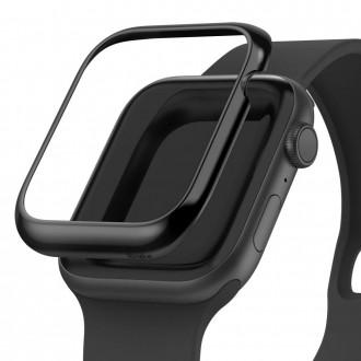 """Juodas dėklas Apple Watch 4/5 (44MM) """"Ringke Bezel"""""""
