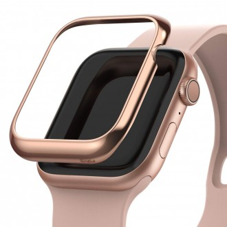 "Rausvas dėklas Apple Watch 1/2/3 (38MM) ""Ringke Bezel"""