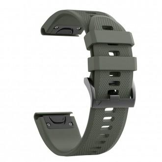 "Žalia apyrankė laikrodžiui ""Garmin Fenix 3/5X/3HR/5X PLUS/6X/6X PRO ""Tech-Protect Smooth"""