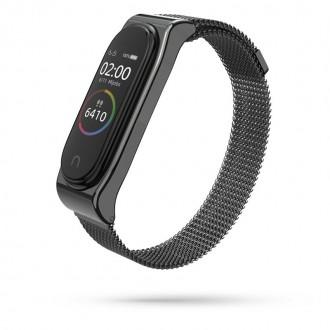 """Juoda apyrankė laikrodžiui Xiaomi Mi Band 3/4 """"Tech-Protect Milaneseband"""""""