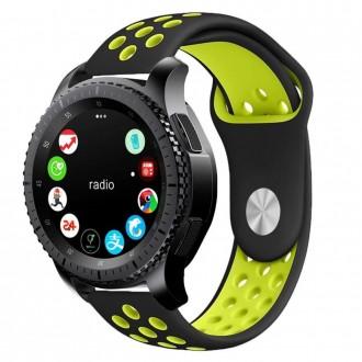 """Juoda-salotinė apyrankė laikrodžiui Samsung Watch 46MM """"Tech-Protect Softband"""""""