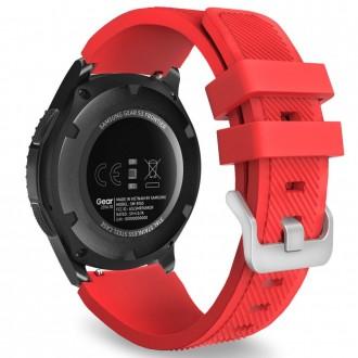 """Raudona apyrankė laikrodžiui Samsung Watch 46MM """"Tech-Protect Smoothband"""""""