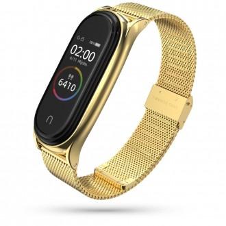 """Auksinė apyrankė laikrodžiui Xiaomi Mi Smart Band 5 """"Tech-Protect Milaneseband"""""""