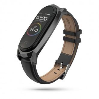 """Juoda apyrankė laikrodžiui Xiaomi Mi Smart Band 5 """"Tech-Protect Herms"""""""