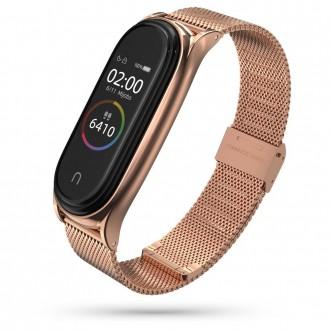 """Rausva apyrankė laikrodžiui Xiaomi Mi Smart Band 5 """"Tech-Protect Milaneseband"""""""