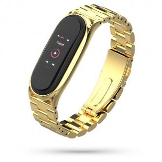 """Auksinė apyrankė laikrodžiui Xiaomi Mi Smart Band 5 """"Tech-Protect Stainless"""""""