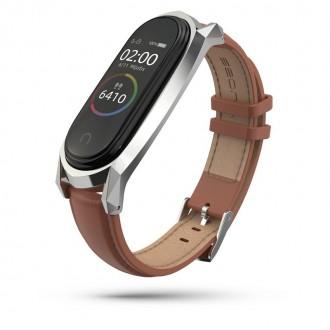 """Ruda apyrankė laikrodžiui Xiaomi Mi Smart Band 5 """"Tech-Protect Herms"""""""