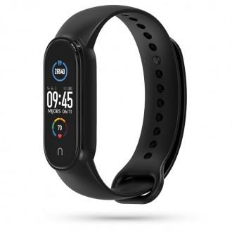 """Juoda apyrankė laikrodžiui Xiaomi Mi Smart Band 5 """"Tech-Protect Iconband"""""""