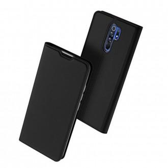 """Juodas atverčiamas dėklas Xiaomi Redmi 9 telefonui """"Dux Ducis Skin"""""""