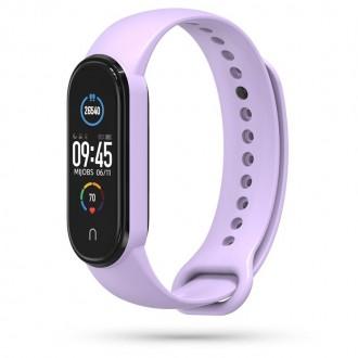 """Purpurinė apyrankė laikrodžiui Xiaomi Mi Smart Band 5 """"Tech-Protect Iconband"""""""