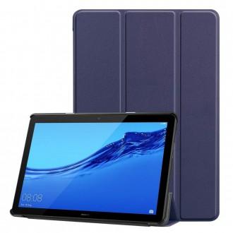 """Tamsiai mėlynas atverčiamas dėklas Huawei MediaPad T5 10.1 """"Smart Leather"""""""