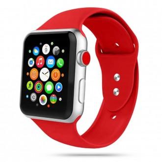 """Raudona apyrankė laikrodžiui Apple Watch 1/2/3/4/5/6 (38-40MM) """"Tech-Protect Iconband"""""""