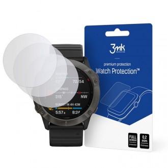 Lankstus apsauginis 3MK stikliukas laikrodžiui Garmin Fenix 6X/6X Pro (3Vnt)